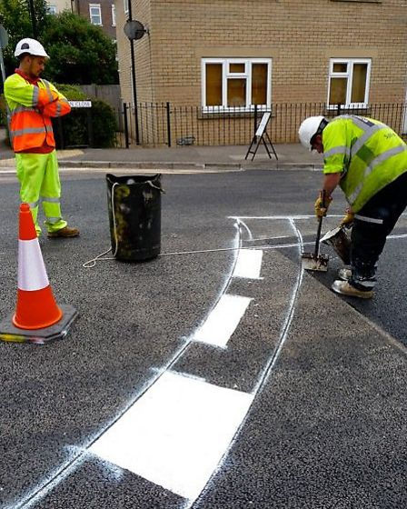 Potholes on Uttlesford roads are being repaired