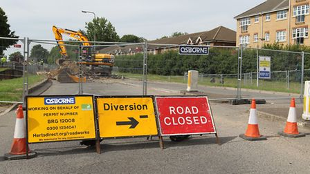 The closure of Six Hills Way in Stevenage has caused disruption to bus routes