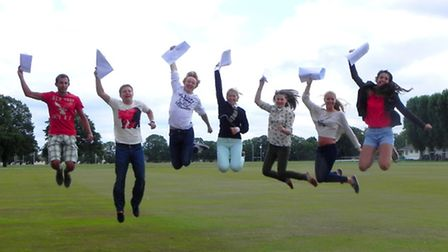 A Level students at Felsted celebrate their success