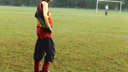 Tommy Headington in his goalkeeping kit during his younger days