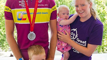 Mum Jenny with daughter Jayla and son Jacob pictured with her brother Jack Probert