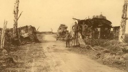 St Julien, Belgium, in the aftermath of the battle on July 31, 1917