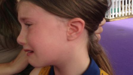 Nine-year-old Miranda Vallance after the incident