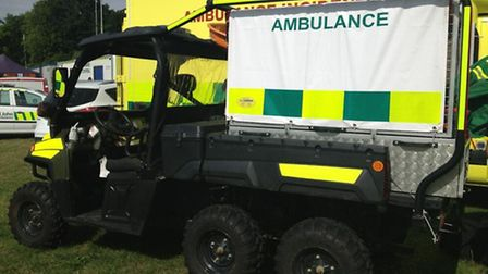 The polaris vehicle which was used to reach difficult to access casualties at V Festival.