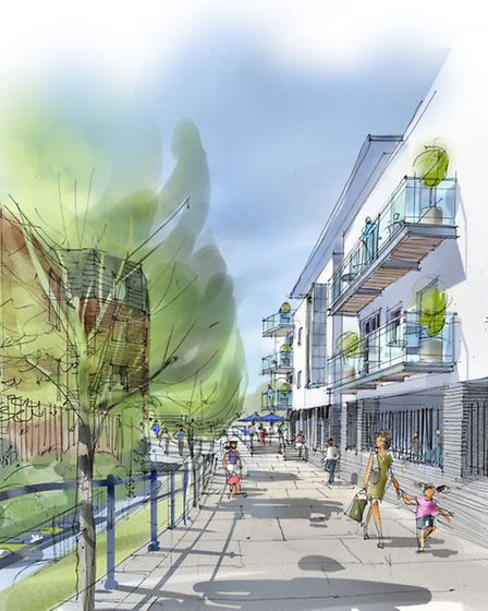 Artist impression of the river path
