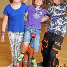 Amber Woods and Oliver Northam put their circus skills to the test