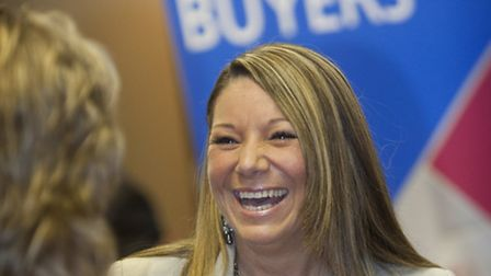 Paula Tatchell from Sturnwood Recruitment attending last years 'Meet the Buyers' event.