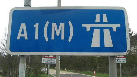 Traffic has been heavy on the A1(M) due to the foggy conditions