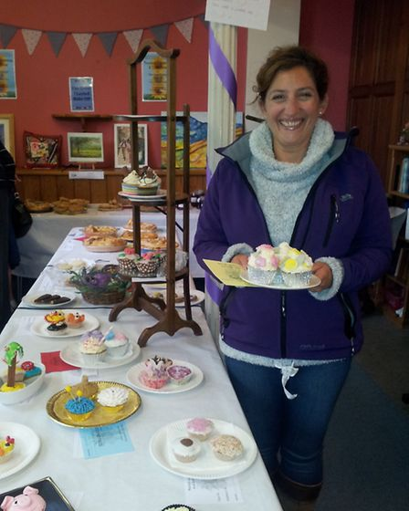 Gabrielle Lloyd, 3rd prize in decorated cupcakes in The Great Thaxted Bake Off