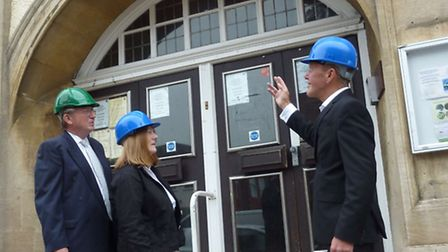 Caption (l-r): NHDC cllr Tony Hunter, cultural services manager Ros Allwood and strategic director o