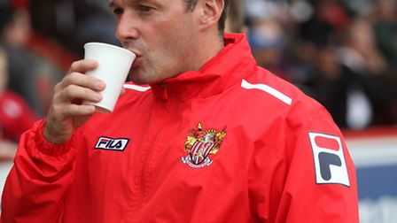 Graham Westley Stevenage Manager before the game