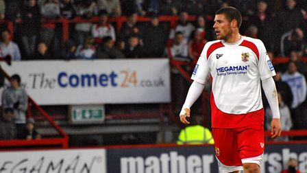 Michael Bostwick scored a few goals for Boro, including against Mansfield in October 2008. Photo: Co