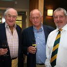Henry Blofeld with Cliff Nye and MC for the evening Graham Walker