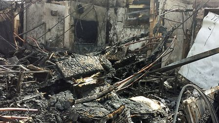 John Ray County Infant School after the devastating fire. Picture: Stephen Huntley