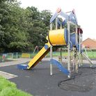 The small play area in St Nicholas Park, Stevenage, is expected to remain closed for another month a