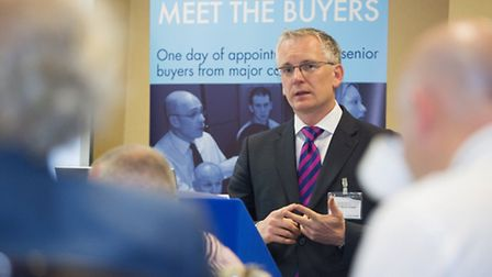Stansted Airport's Managing Director Andrew Harrison hosts a business breakfast to kick off today's