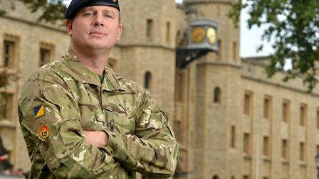 Army disposal expert WO Andy Peat was awarded the George Medal for bravery. Picture: Corporal Steve