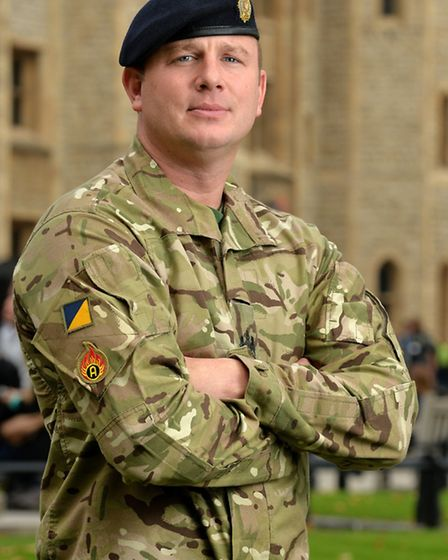 Carver Barracks-based WO Andy Peat risked his own life to save the lives of others. Picture: Corpora