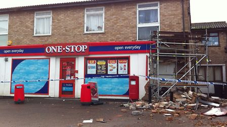 The One Stop shop in Clifton was ram-raided in the early hours of this morning