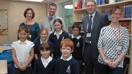 From left, chair of Friends Judy Emmanuel, chair of governors Thomas William-Powlett, Maddy Gilbank,