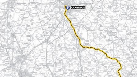 The route stage 3 of the 2014 Tour de France will take through Uttlesford.
