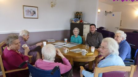 Residents of Minsden Residential Care Home in Hitchin taking part in the memory workshops