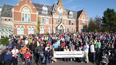 Hundreds of people turned out for the first Wenden Road Ride n Ramble in October 2011. Photo by Gare