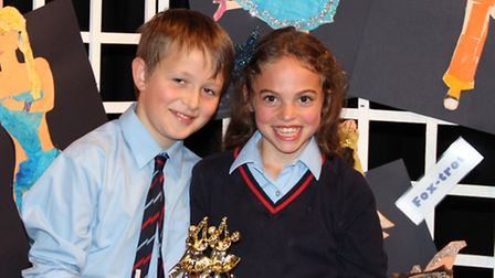 The winners, Tom West and Poppy Evans.