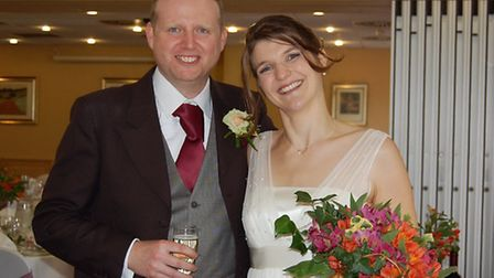 Evie and Jonathan enjoy their special day