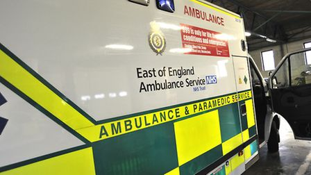 Two cyclists were taken to hospital yesterday