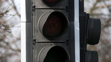 The traffic lights on the roundabout for junction 8 of the A1(M) are not working