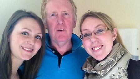 Gemma Evans (right) with dad Stephen and sister Sarah.