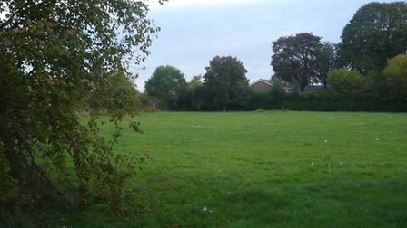 The old playing field of the former Roecroft Lower School in Stotfold