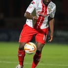 Francois Zoko scored for Stevenage on his debut for the club. Photo: Harry Hubbard