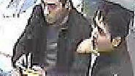 The police would like to speak to these two men in connection with the incident