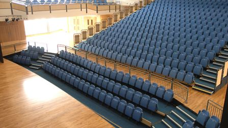The stage and seating at Saffron Hall.