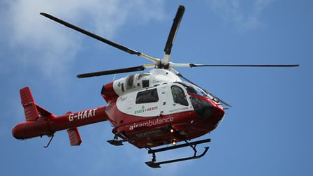 An air ambulance was called to take the cyclist to a hospital in London
