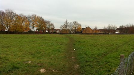 Grassland at the edge of Yeomanry Drive in Baldock is being sold for housing