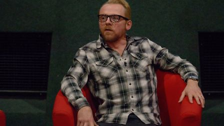 Simon Pegg during the Q and A