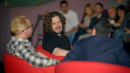Edgar Wright at the Q and A