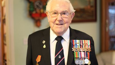 Artic Veteran Paul Ashwell with his medals