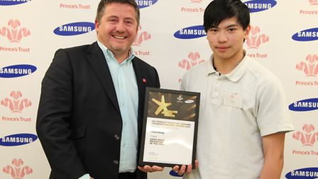 Chew Chong with Prince's Trust patron Leigh Smart