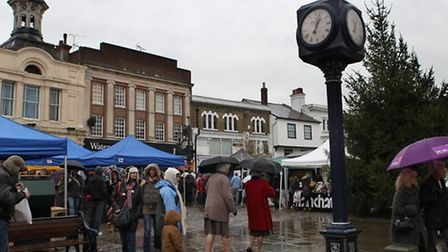 The food stalls of Hitchin Food and Wine Festival