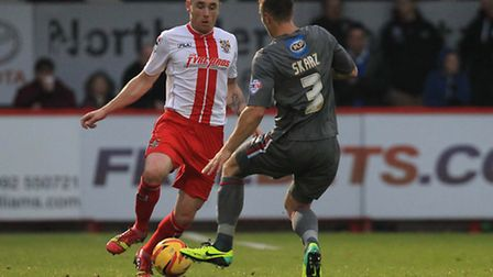 Greg Tansey in action against Rotherham United. Photo: Harry Hubbard