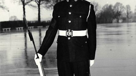 Shaun Tighe, pictured in uniform as an 18-year-old, died on Armistice Day at the age of 60