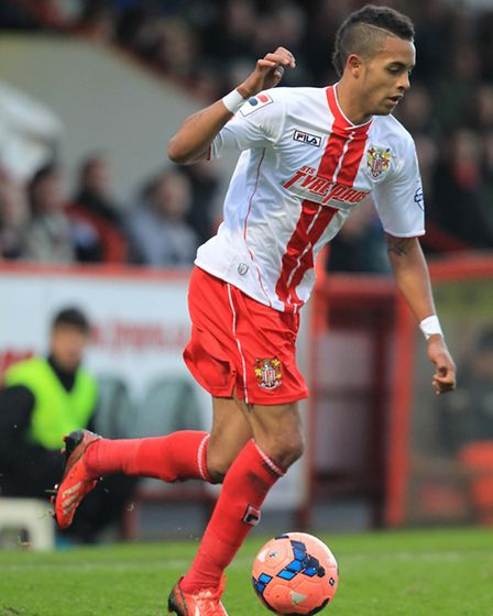 Bruno Andrade of Stevenage on the ball