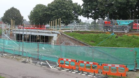 Further delays to bridge work on Six Hills Way in Stevenage mean a section of the road is now expect