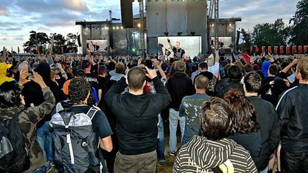 Crowds at the last Sonisphere Festival in 2011
