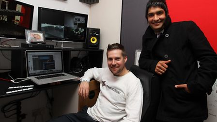 Nadeem Leigh with producer Kriss Lawrence