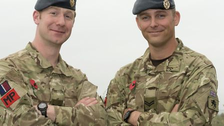 Corporal Tom Wheeler (left) and Corporal Scott Burrell (right)